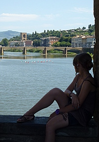 Relaxing in Florence