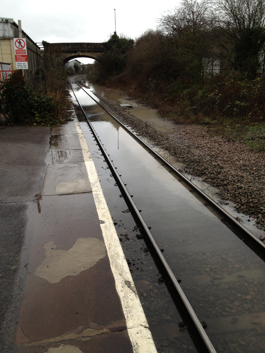 Flood at Melksham Station