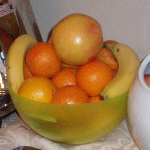Fruit bowl at Well House Manor