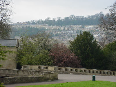 Another view of Bath from Sidney gardens