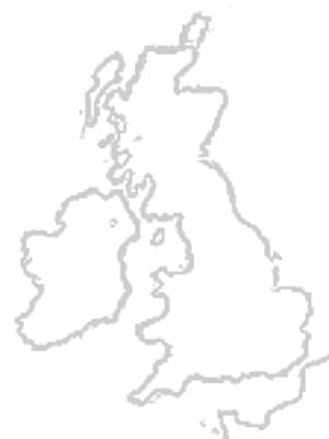 Ouline Map of Great Britain and Ireland