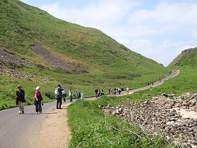 Walking to the Giants Causeway