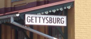 Gettysburg - station sign