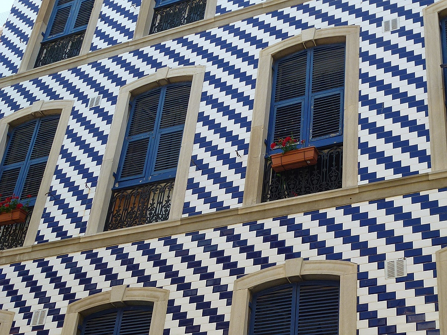 Tiles on house in Gibraltar
