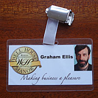 Graham Ellis - Well House Manor - staff badge