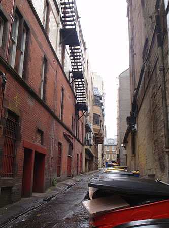 Back Alley in Glasgow