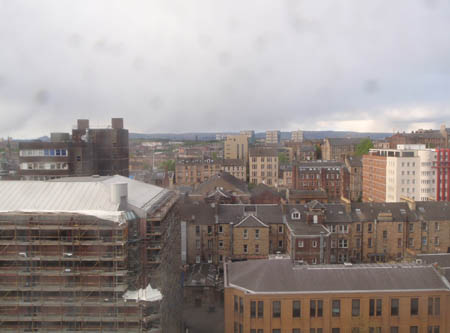 View from Glasgow hotel room