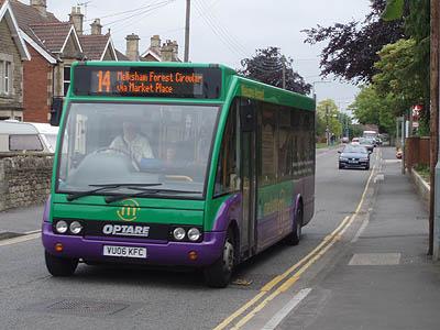 Local bus in Melksham