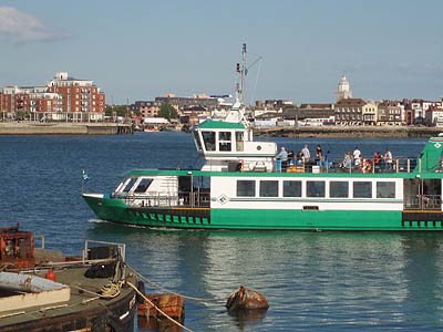 The ferry from Gosport to Porstmouth