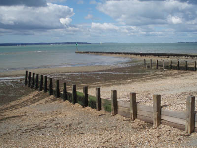 Groynes near Lee-on-the-Solent