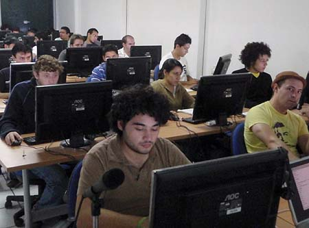Delegates on a private Lua course