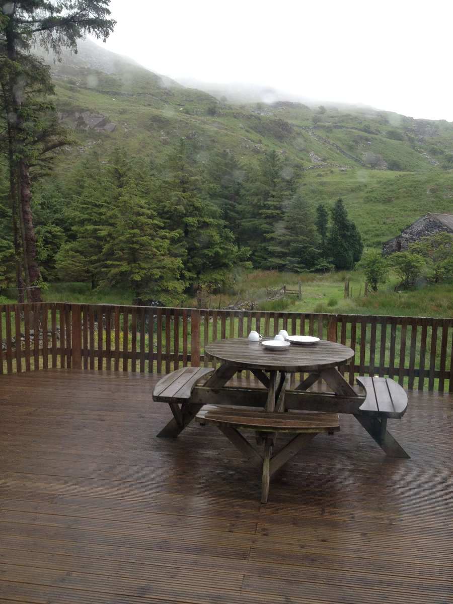 On holiday in Wales. It rained!