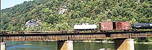 Railroad across the Potomac, Harpers Ferry