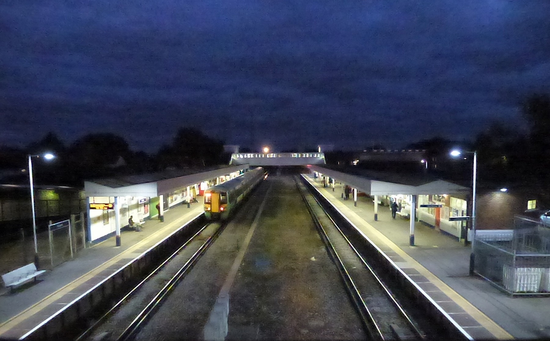 Havant Station at Dusk