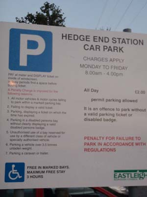 Parking at Hedge End Station