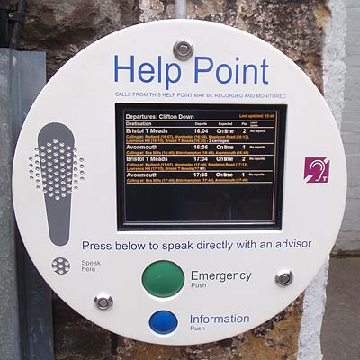 Help Point on Clifton Down Station