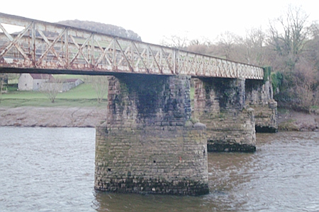 Old railway bridge at Tintern - now a footpath