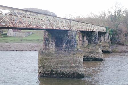 Old railway bridge at Tintern - now a footpath