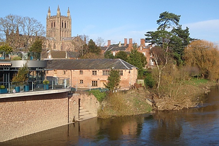 Hereford Catherdral from river