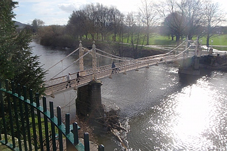 Bridge over river Wye, Hereford