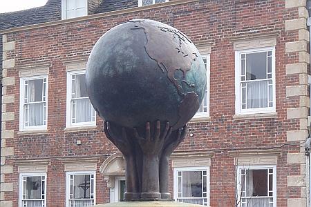 Wooton Bassett - war memorial globe