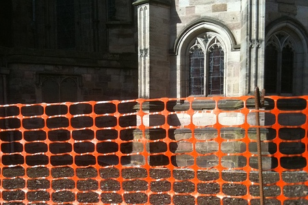 Redoing the outside of the cathedral