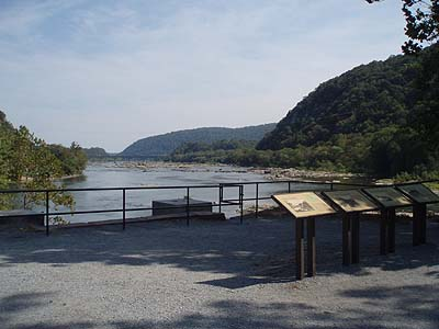 Rivers meet at Harpers Ferry