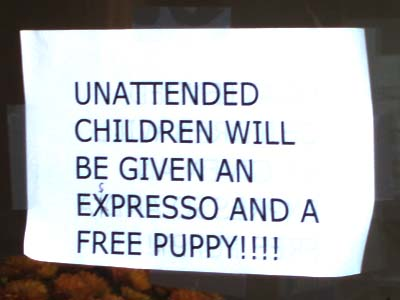 Unaccompanied Children will be given an expresso and a free puppy