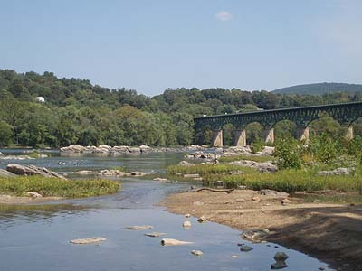 The main road crosses the Potomac below Harpers Ferry