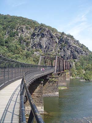 Railroad bridge across the Potomac, Harpers Ferry