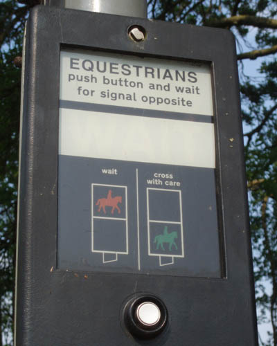 Lacock, Wiltshire - Traffic lights for horses