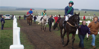 Coming up to the winners enclosure