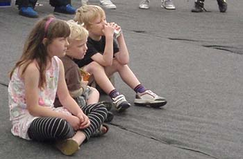 Children watching Hot Tap dance