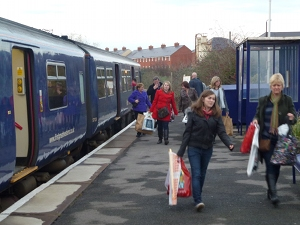 Arriving at Melksham Station