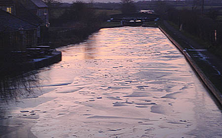 Ice on canal