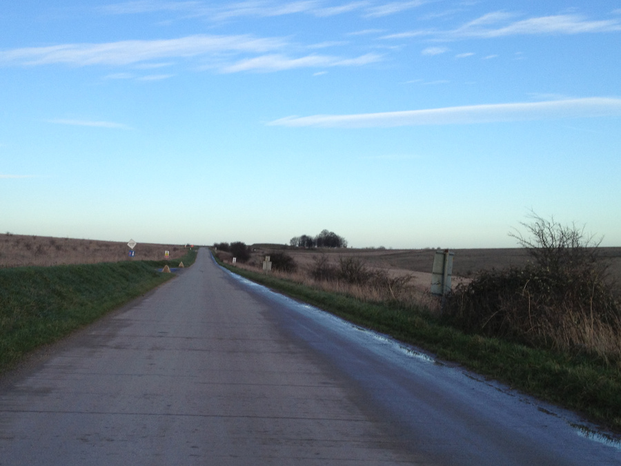 The long and not winding road.  On Salisbury Plain