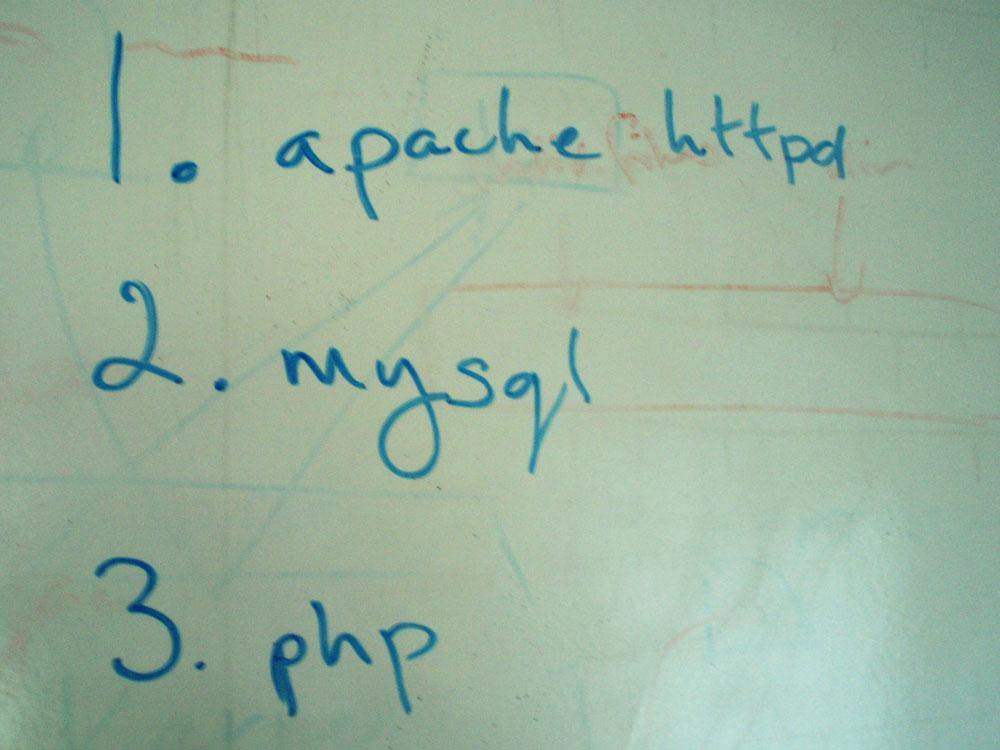Install order - httpd, PHP, MySQL etc