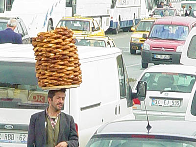 Bread on the head