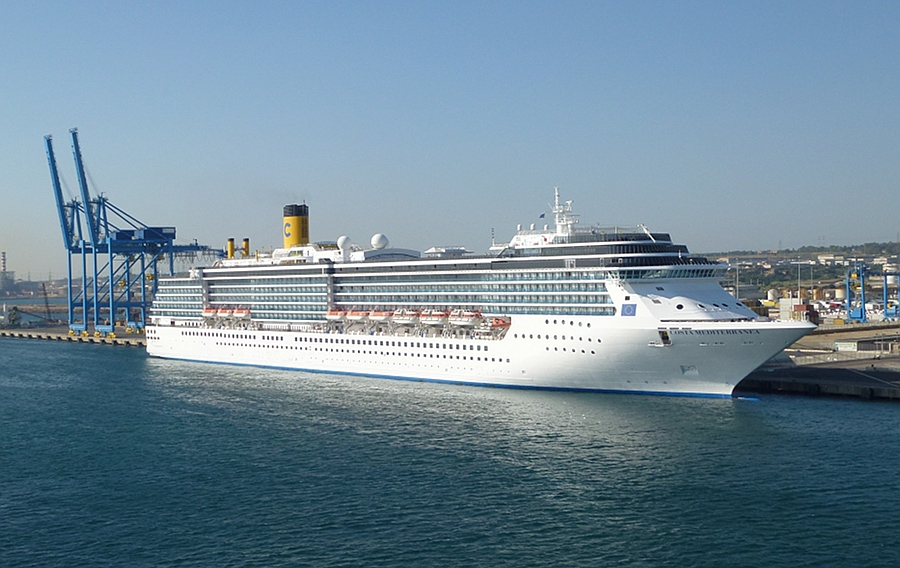 Costa Meditteranea berthed in Italy
