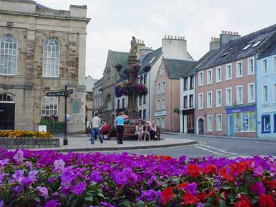 In the town of Jedburgh