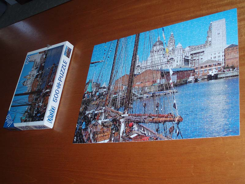 Complete Jigsaw of Liverpool Docks