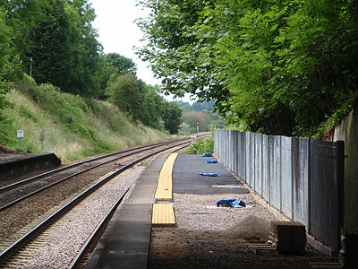 Platform extension at Keynsham Station