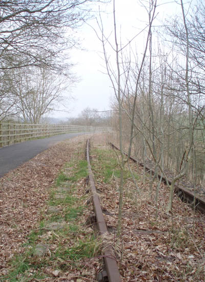 The old railway track