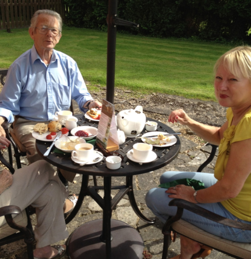 Afternoon tea at Well House Manor