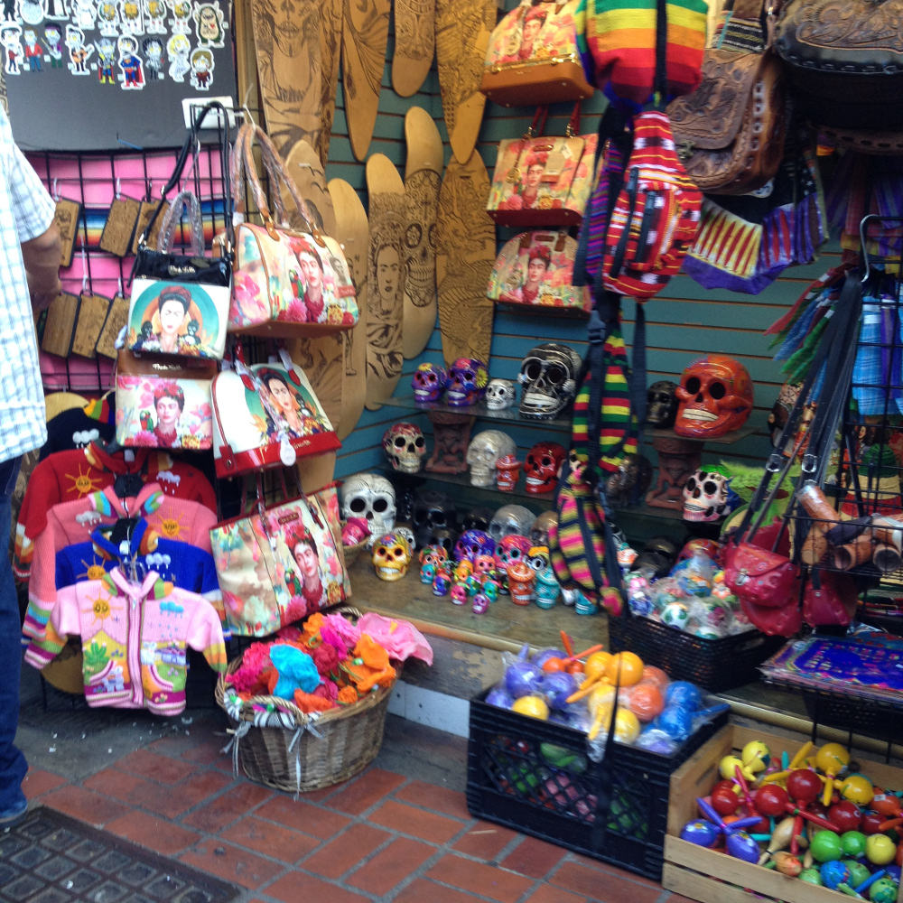 The Mexican district market in Los Angeles