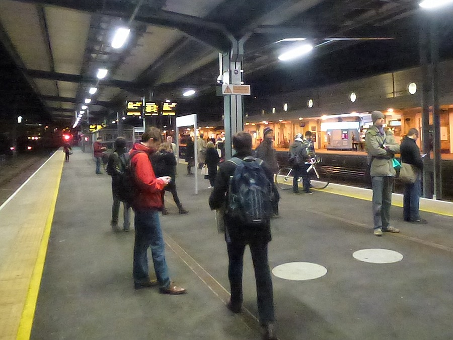 New platform at Cambridge Station