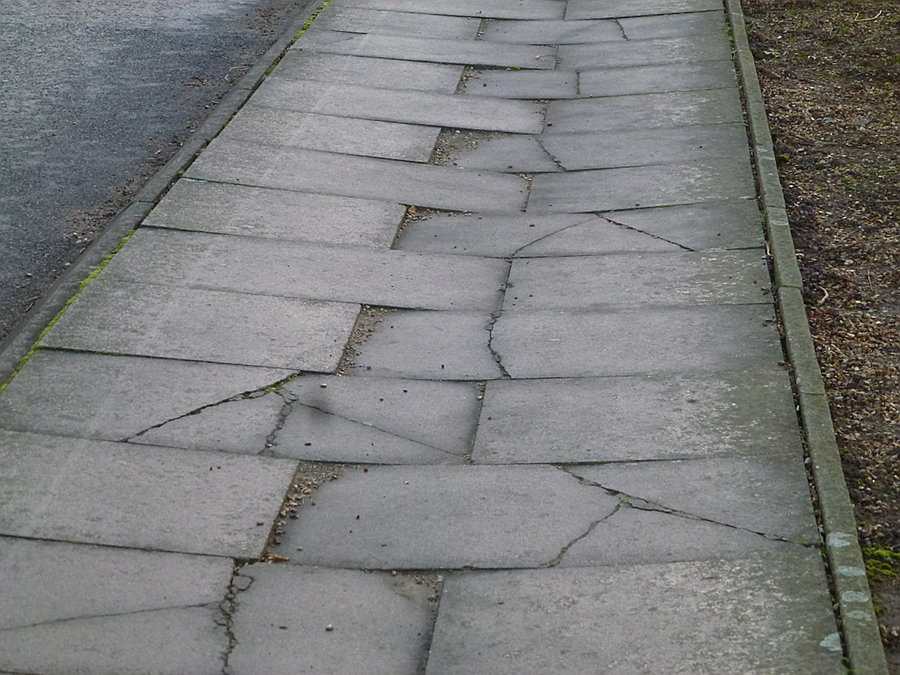 Broken Pavement in Cambridge