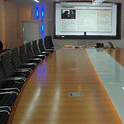 Well House Consultants run private courses on customer sites - here is a Central London training room we used