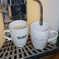 Our Coffee mugs say ... Come as a Student, Leave as a Friend!