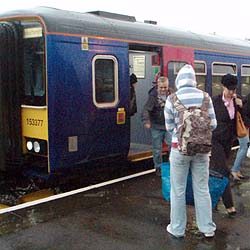 We encourage delegates to arrive by train. Picture taken when we were picking up from Melksham Station